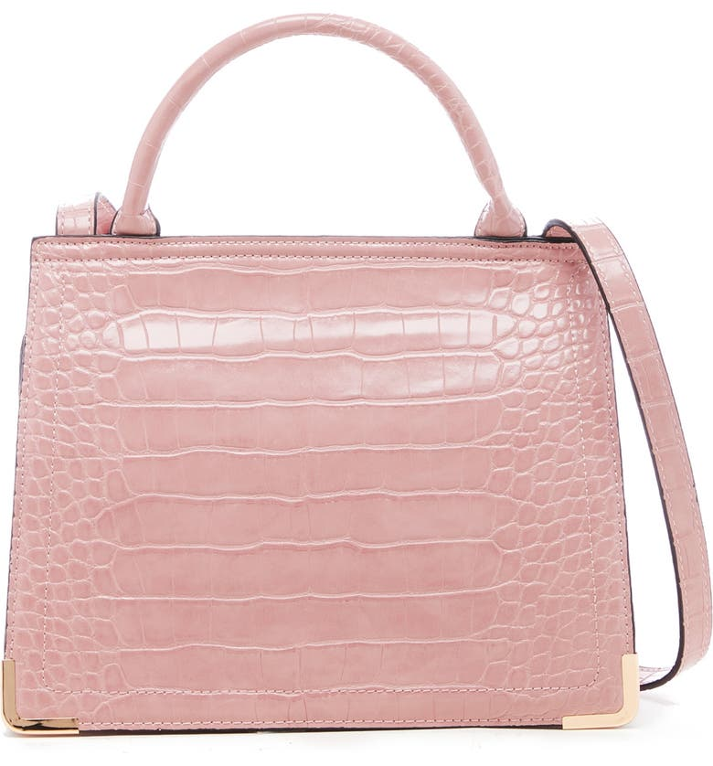 SOLE SOCIETY Faux Leather Crossbody Bag, Main, color, PINK SALT