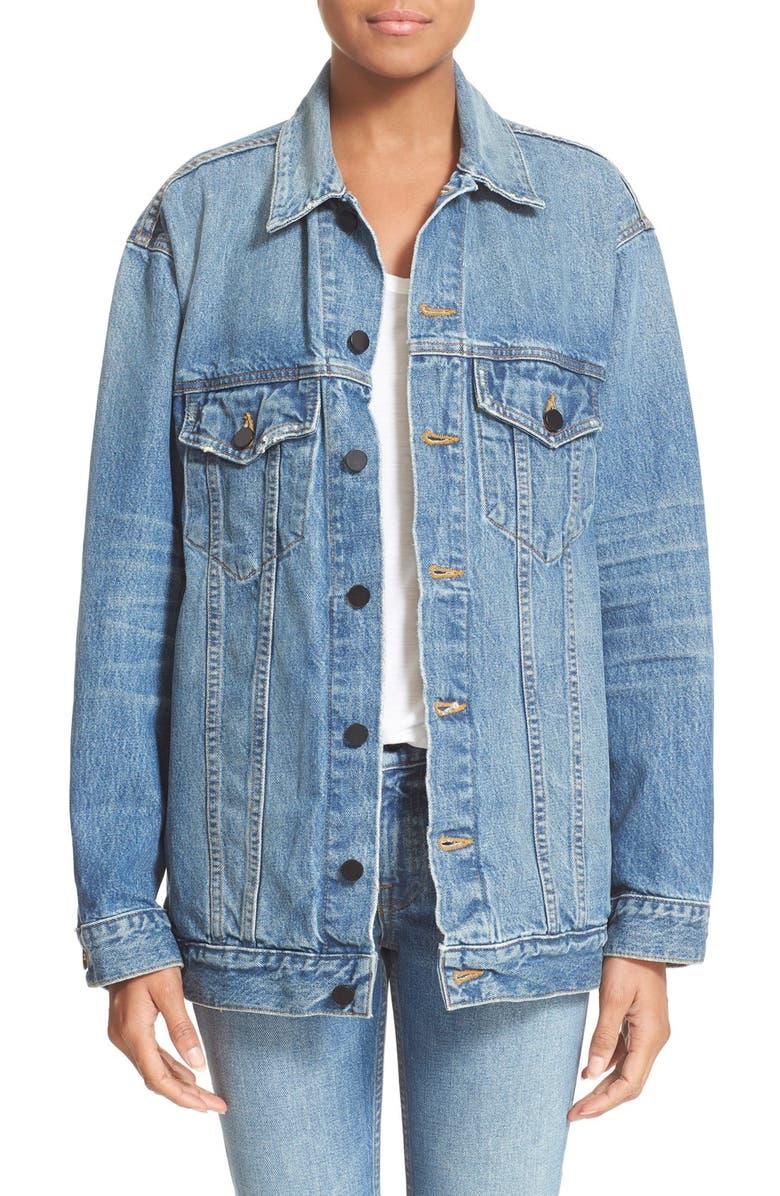 ALEXANDER WANG Denim x Alexander Wang Daze Oversized Denim Jacket, Main, color, 453