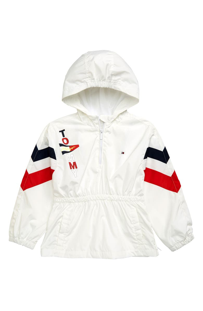 TOMMY HILFIGER Sailing Hooded Windbreaker Pullover, Main, color, 100