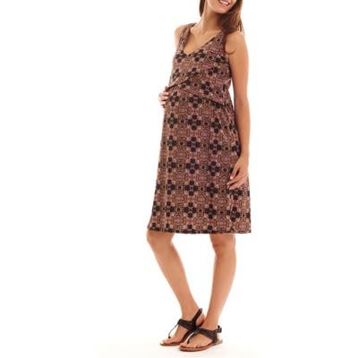 Everly Grey Pia Print Maternity/nursing Dress
