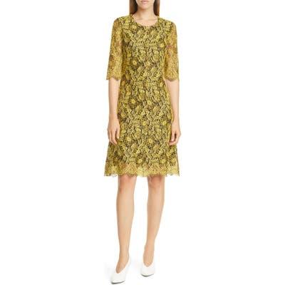 Hugo Kirelia Lace Cocktail Dress, Yellow