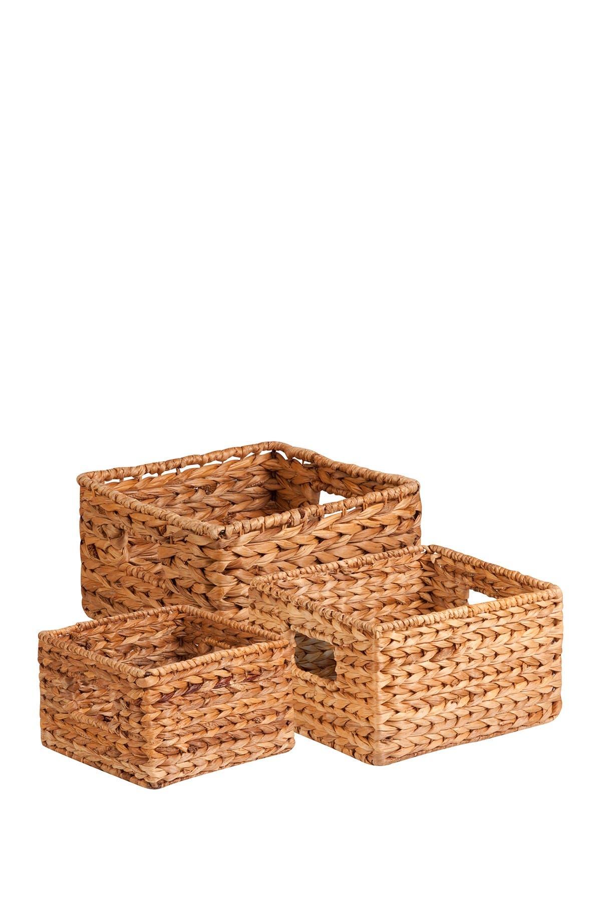 Image of Honey-Can-Do Water Natural Hyacinth Basket Set