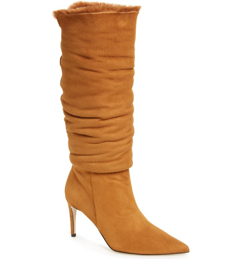 ALEXANDRE BIRMAN Genuine Shearling Boot, Main, color, COGNAC