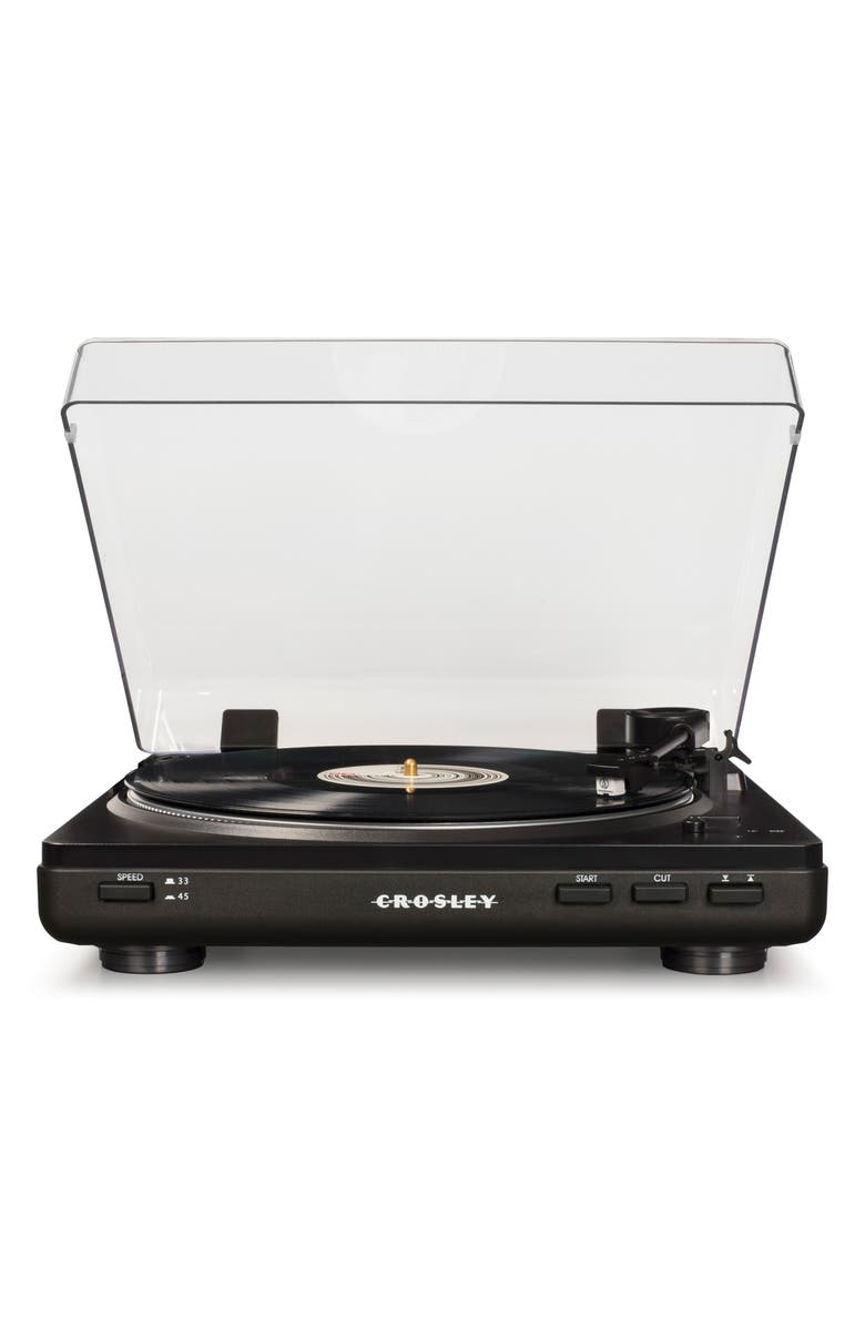 CROSLEY RADIO T400 Two-Speed Automatic Turntable, Main, color, 001