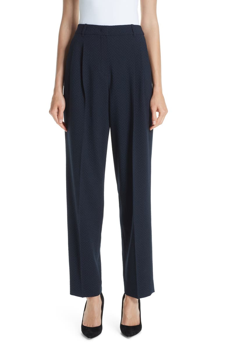 EMPORIO ARMANI Stretch Wool Pants, Main, color, 400