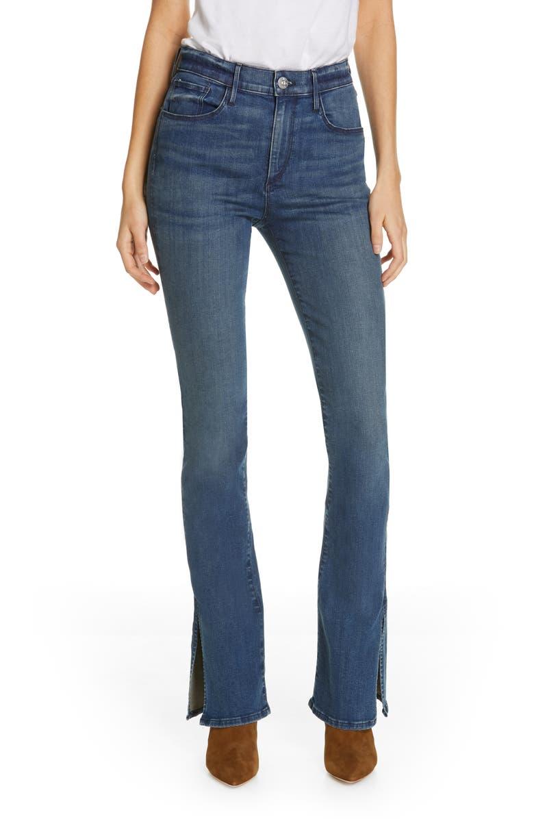 3X1 NYC Split Hem Bootcut Jeans, Main, color, CONNOR