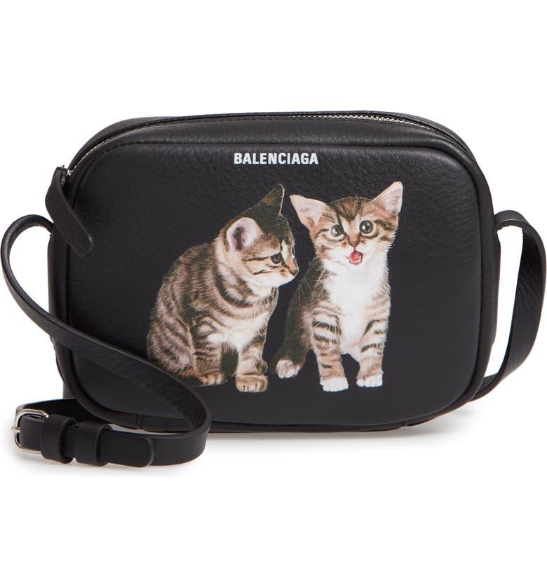 BALENCIAGA Extra Small Kittens Calfskin Leather Camera Bag, Main, color, 011