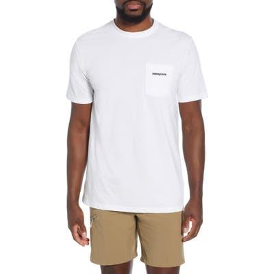 Patagonia P-6 Logo Pocket Responsibili-Tee T-Shirt, White