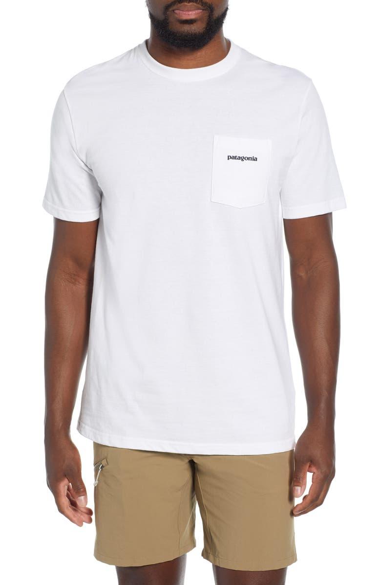 PATAGONIA P-6 Logo Pocket Responsibili-Tee T-Shirt, Main, color, WHITE