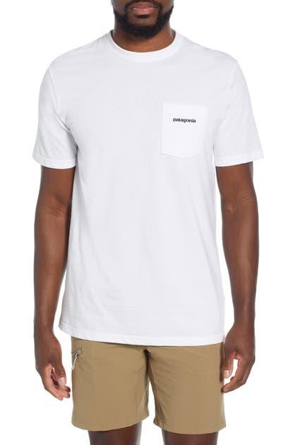 Patagonia P-6 Logo Pocket Responsibili-Tee T-Shirt In Lite Distilled Green