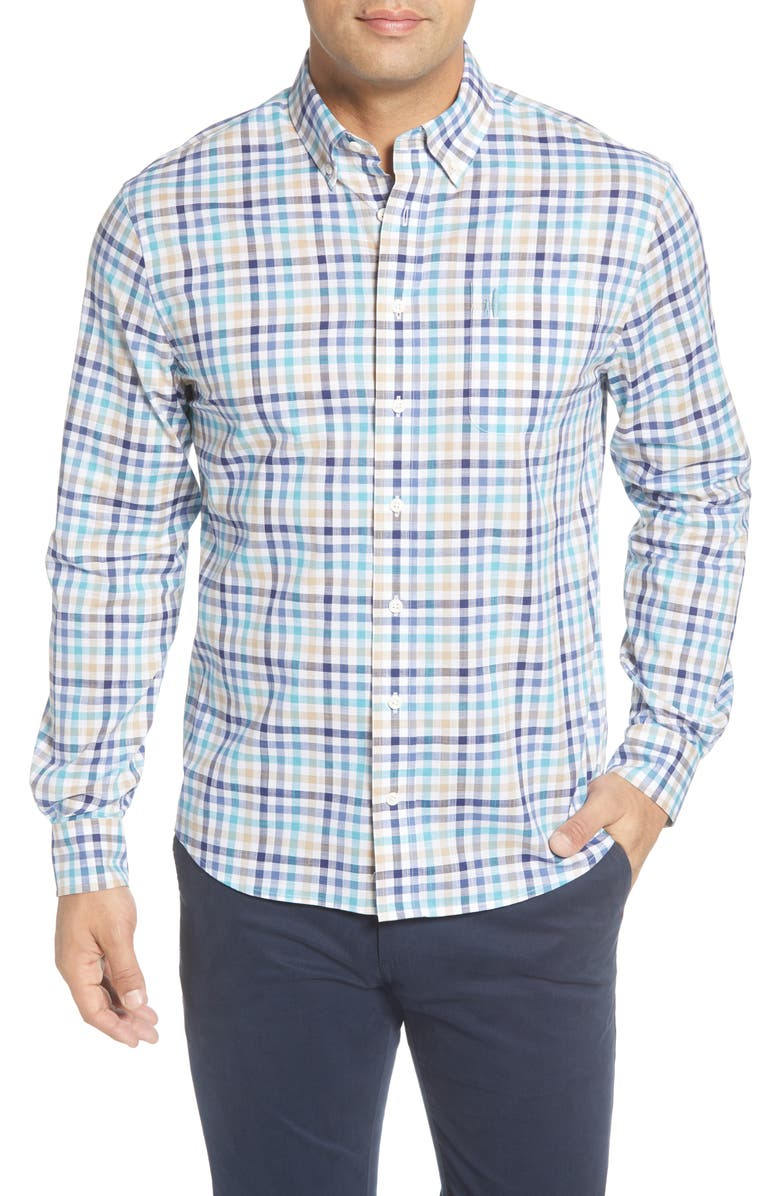 JOHNNIE-O Damien Classic Fit Check Button-Down Shirt, Main, color, NIAGARA