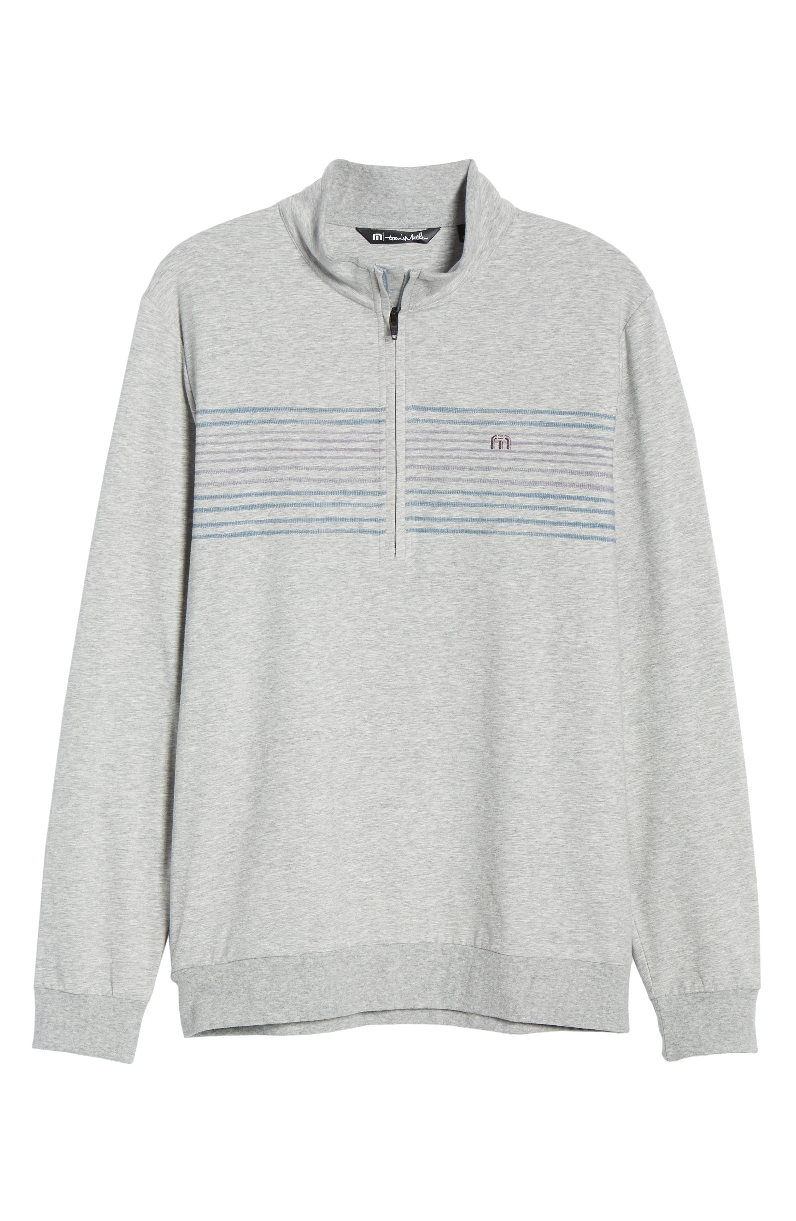 ,                             Play Through Regular Fit Half Zip Pullover,                             Alternate thumbnail 6, color,                             HEATHER ALLOY