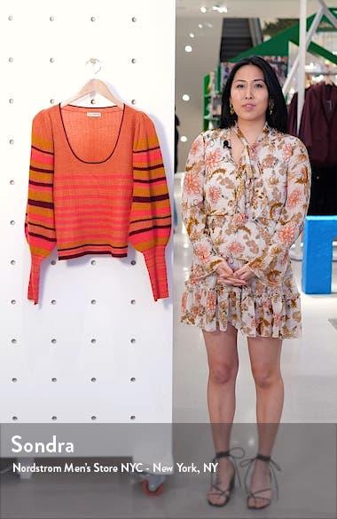 Kariana Stripe Cashmere Sweater, sales video thumbnail