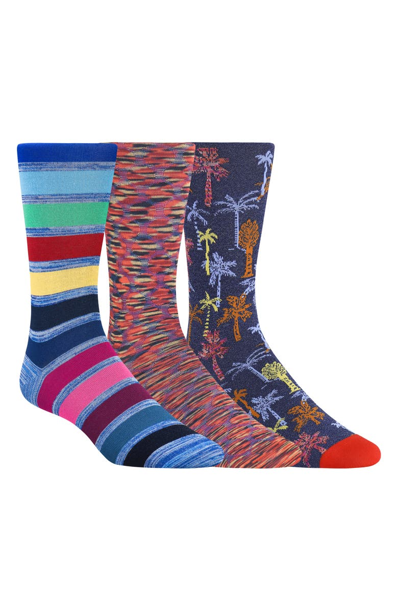 BUGATCHI 3-Pack Sock Gift Set, Main, color, MULTI