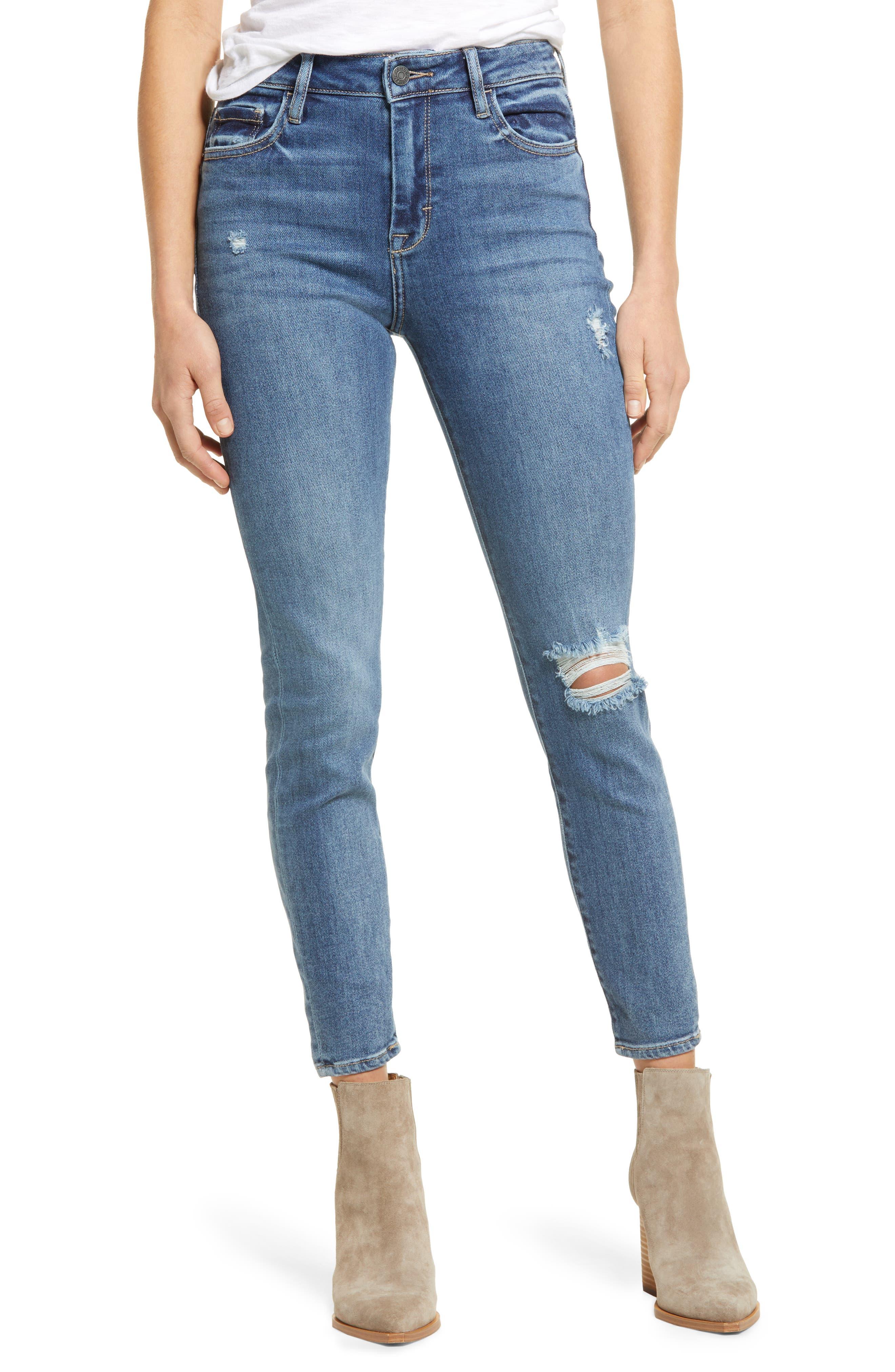 High Rise Super Stretch Skinny Jeans