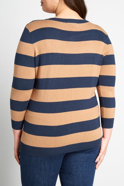 Image of MODCLOTH Rugby Stripe Print Button Down Cardigan
