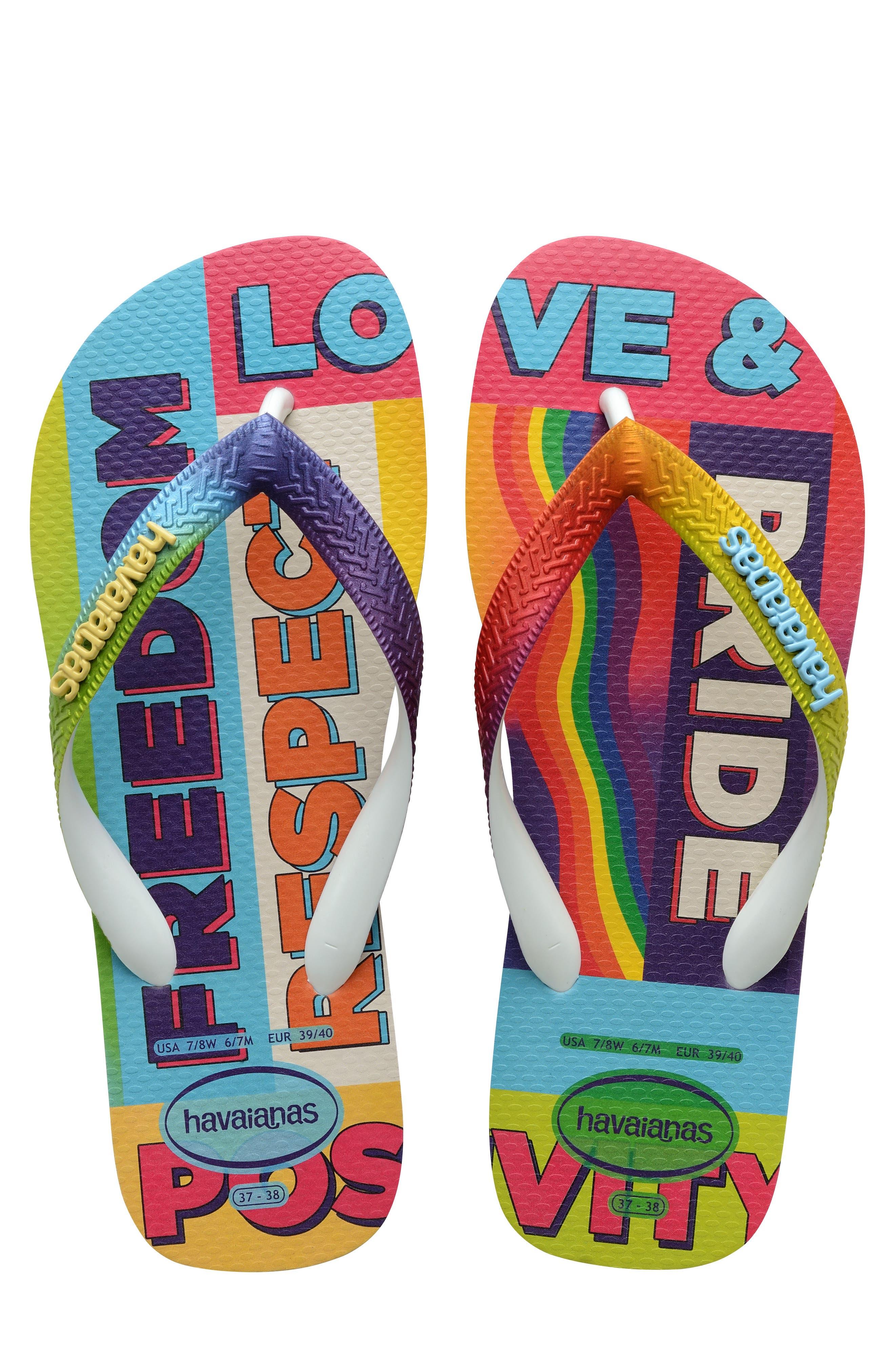 Top Pride Rainbow Flip Flop