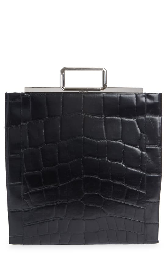 Givenchy CROC EMBOSSED LEATHER SHOPPER