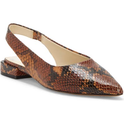 Vince Camuto Chachen Slingback Flat- Brown