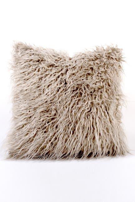 Image of 8 Oak Lane Mongolian Faux Fur Pillow