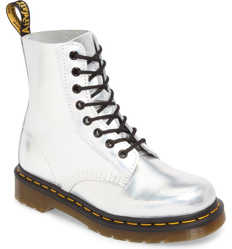 DR. MARTENS Pascal Metallic Combat Boot, Main, color, 040