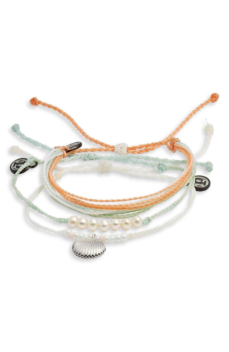 PURA VIDA Catalina Set of 3 Bracelets, Main, color, 100