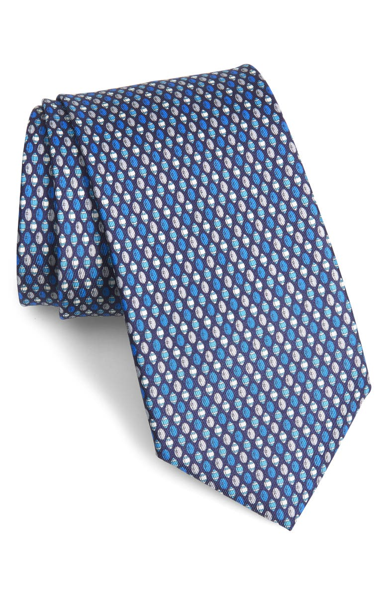 SALVATORE FERRAGAMO Mina Football Silk Tie, Main, color, 491