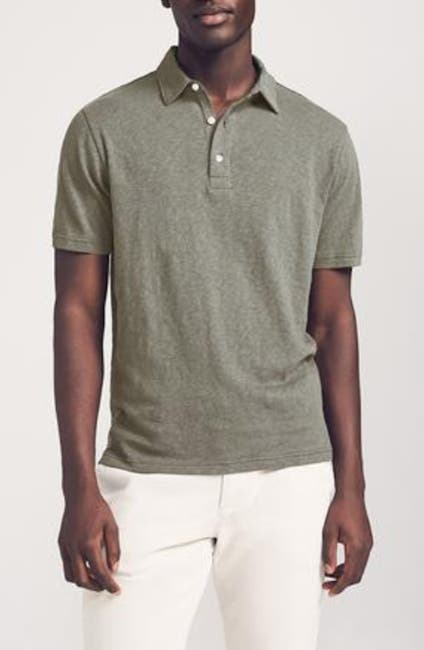 Image of FAHERTY BRAND Reserve Linen Polo Shirt