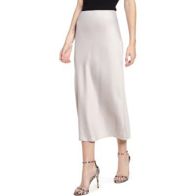 Topshop Matte Satin Bias Cut Skirt, US (fits like 10-12) - Grey