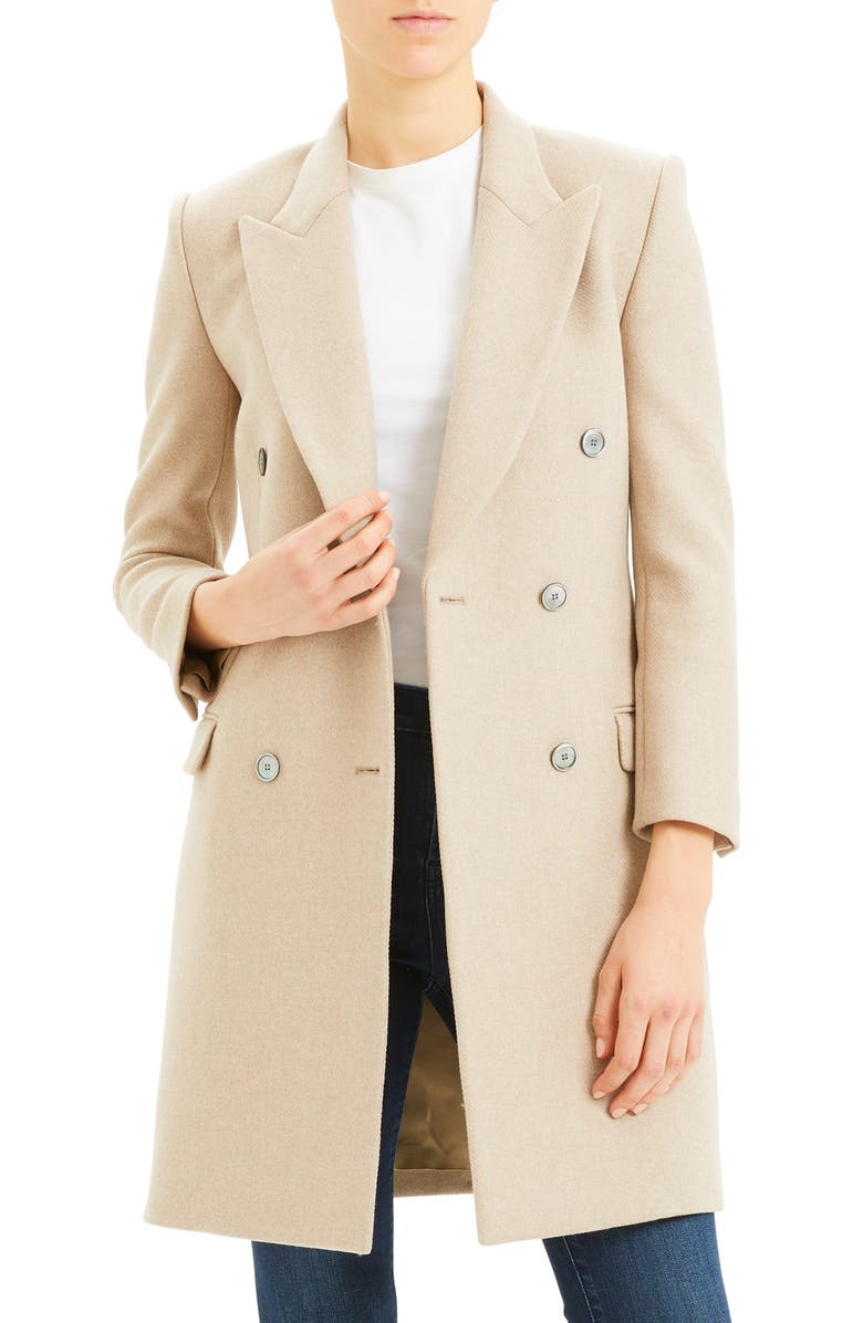 THEORY Double Breasted Wool Coat, Main, color, 260