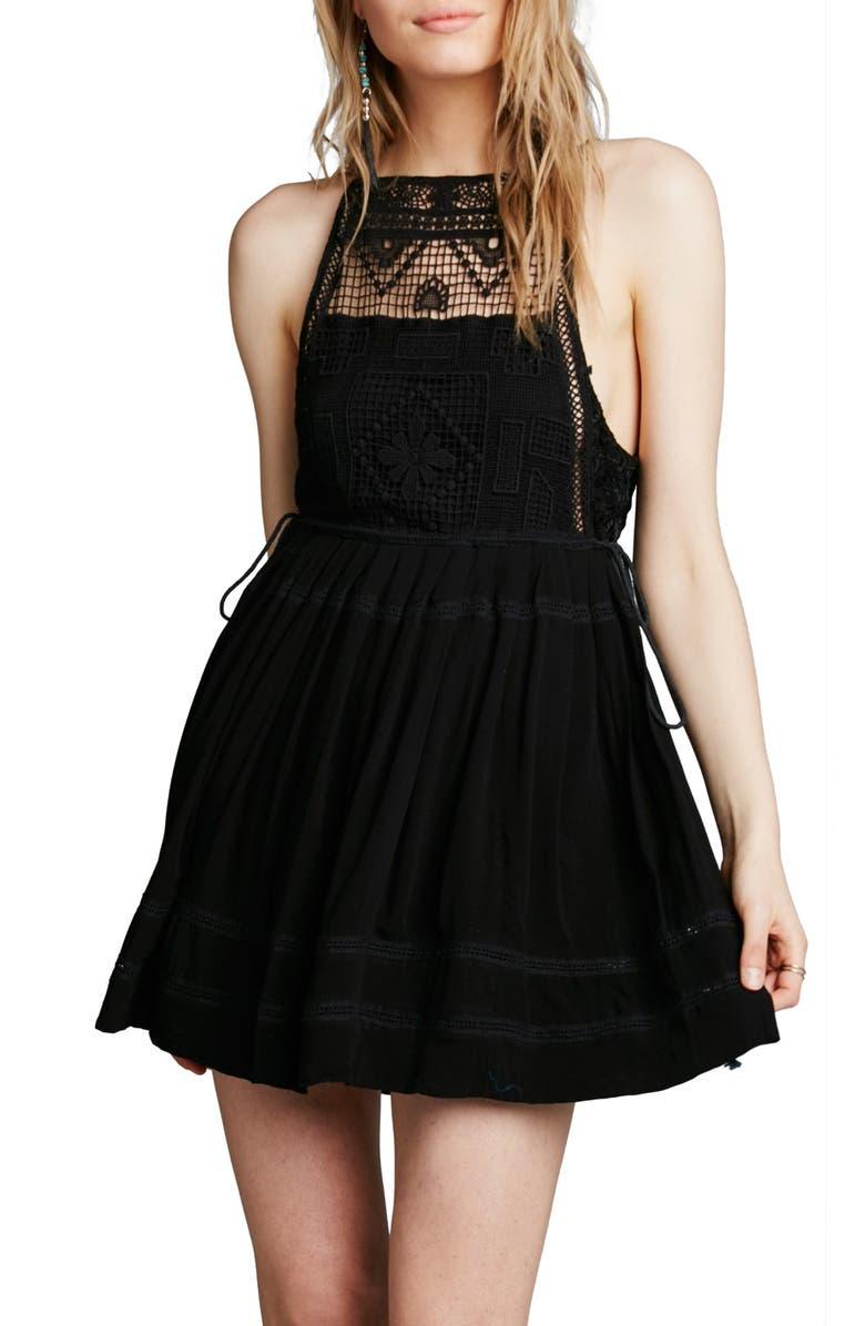 FREE PEOPLE 'Emily' Crochet Dress, Main, color, 001