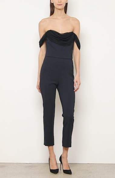 Strapless Skinny Crop Jumpsuit, video thumbnail