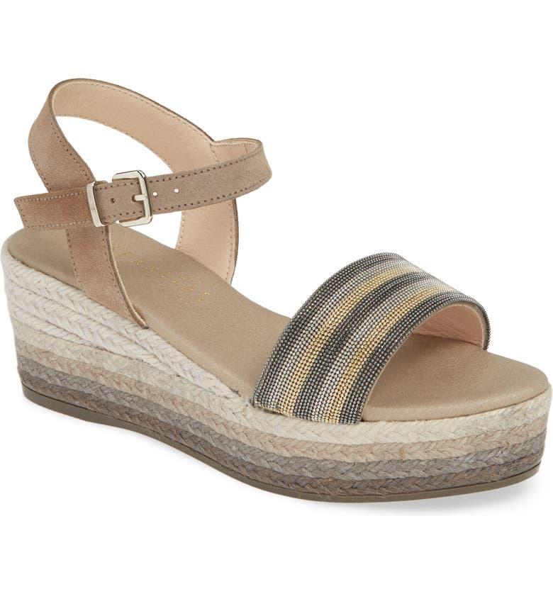 HISPANITAS Ila Platform Wedge Sandal, Main, color, NATURE SUEDE