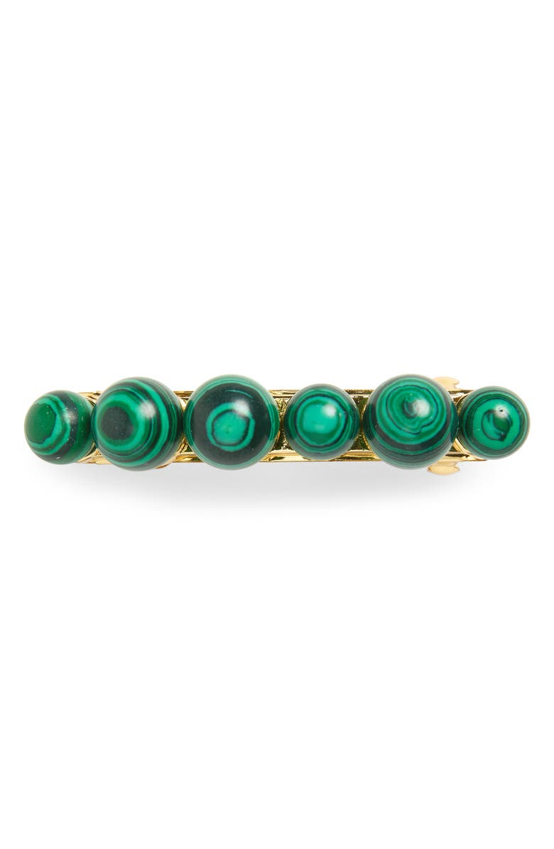LELE SADOUGHI Mixed Stone Barrette, Main, color, MALACHITE