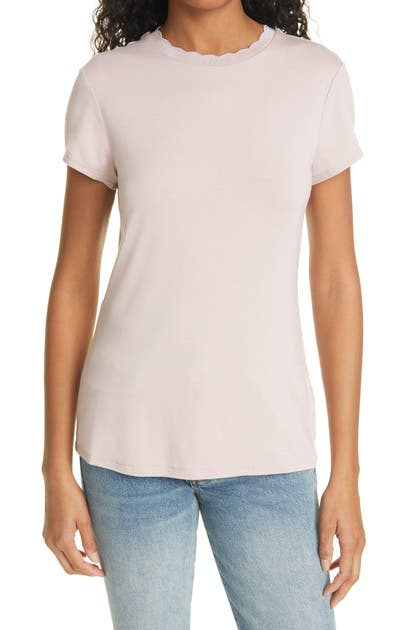 Ted Baker Tops SCALLOP NECK T-SHIRT
