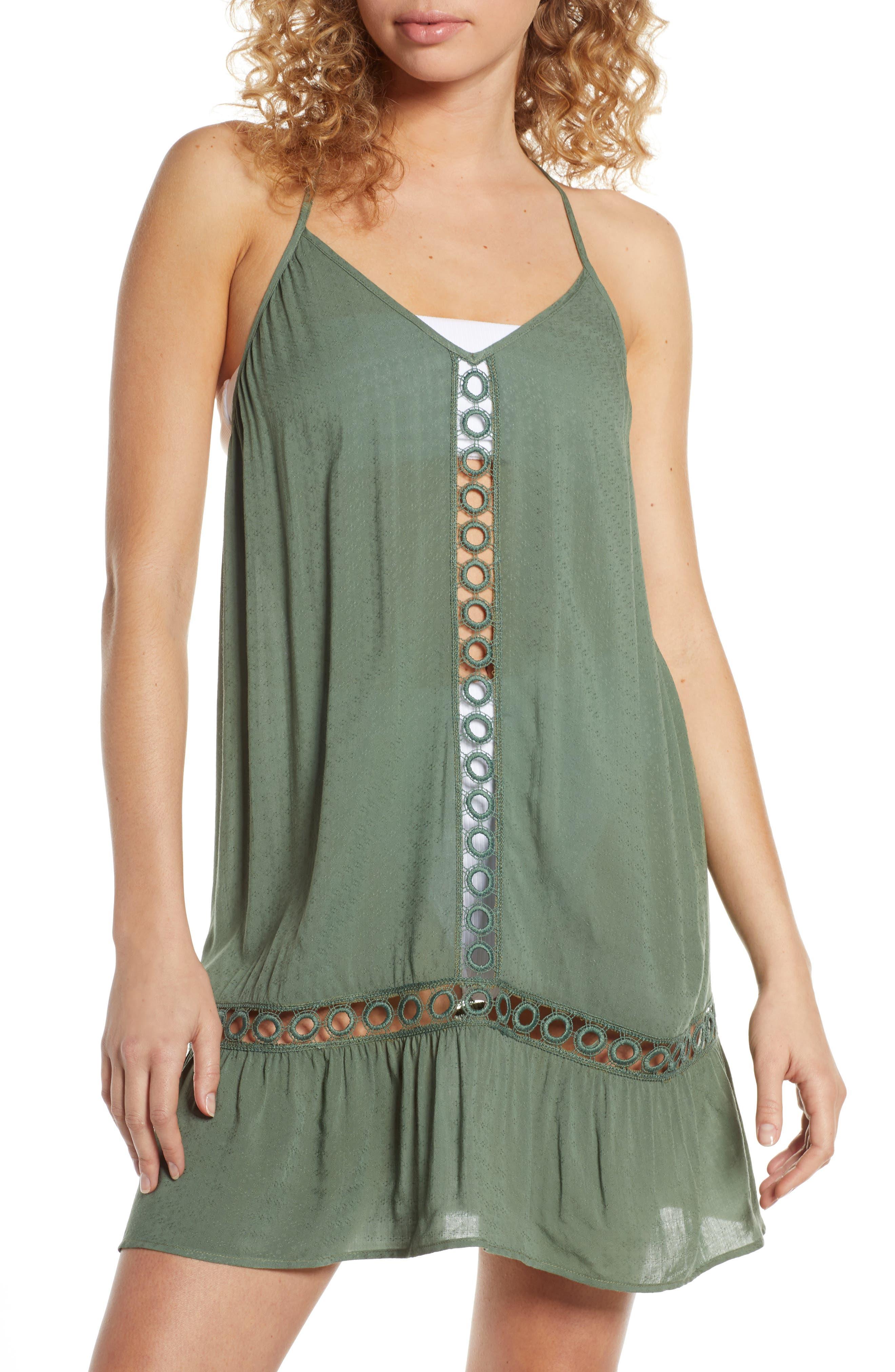 Chelsea28 Emilee Tassel Cover-Up Dress, Green