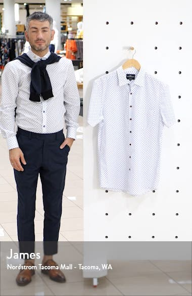 Argyll East Regular Fit Short Sleeve Button-Up Shirt, sales video thumbnail