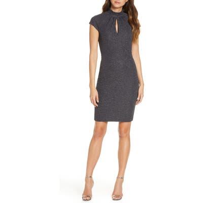 Harper Rose Shimmer Knit Cocktail Dress, 8 (similar to 1) - Grey