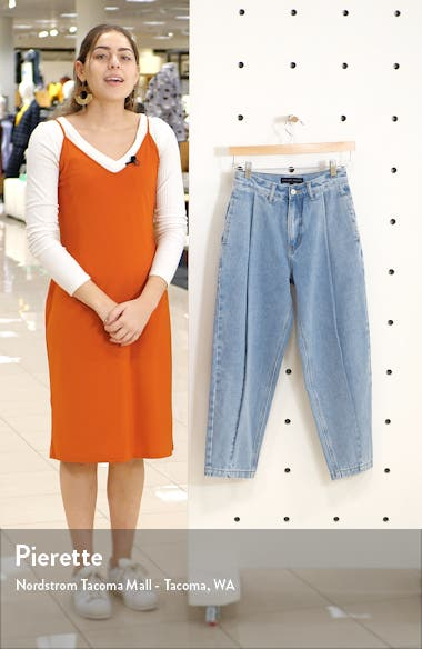 High Waist Pleated Mom Jeans, sales video thumbnail