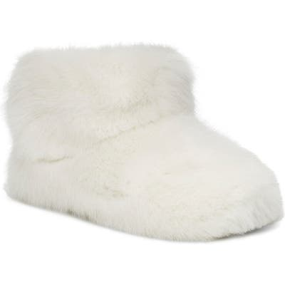 UGG Amary Faux Fur Slipper Bootie, White