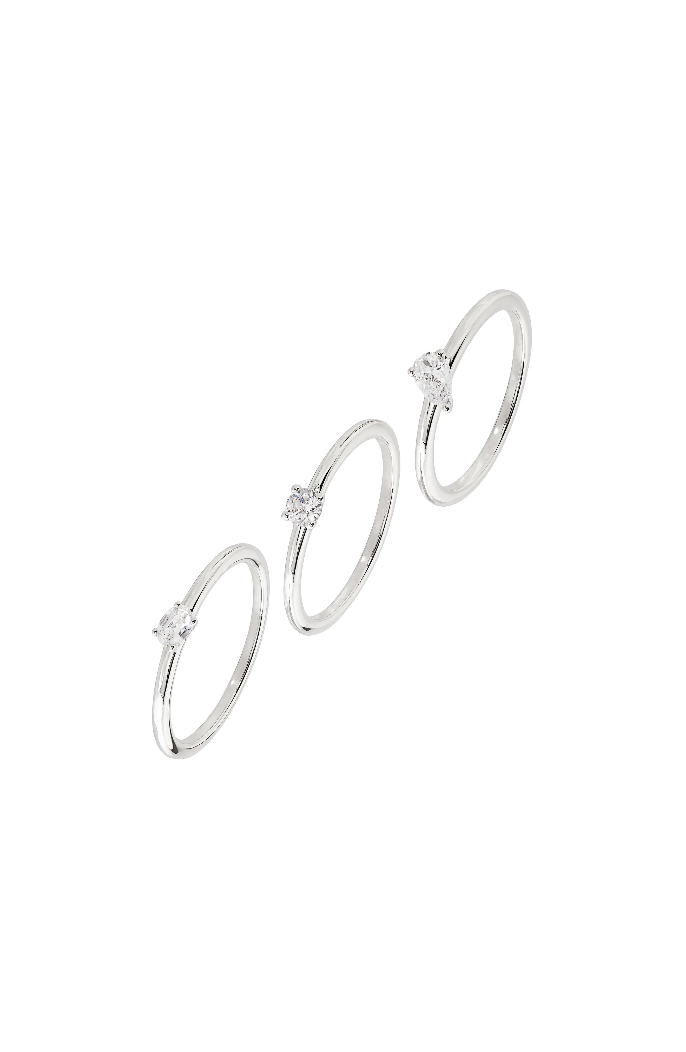 Danya Set Of 3 Cubic Zirconia Rings