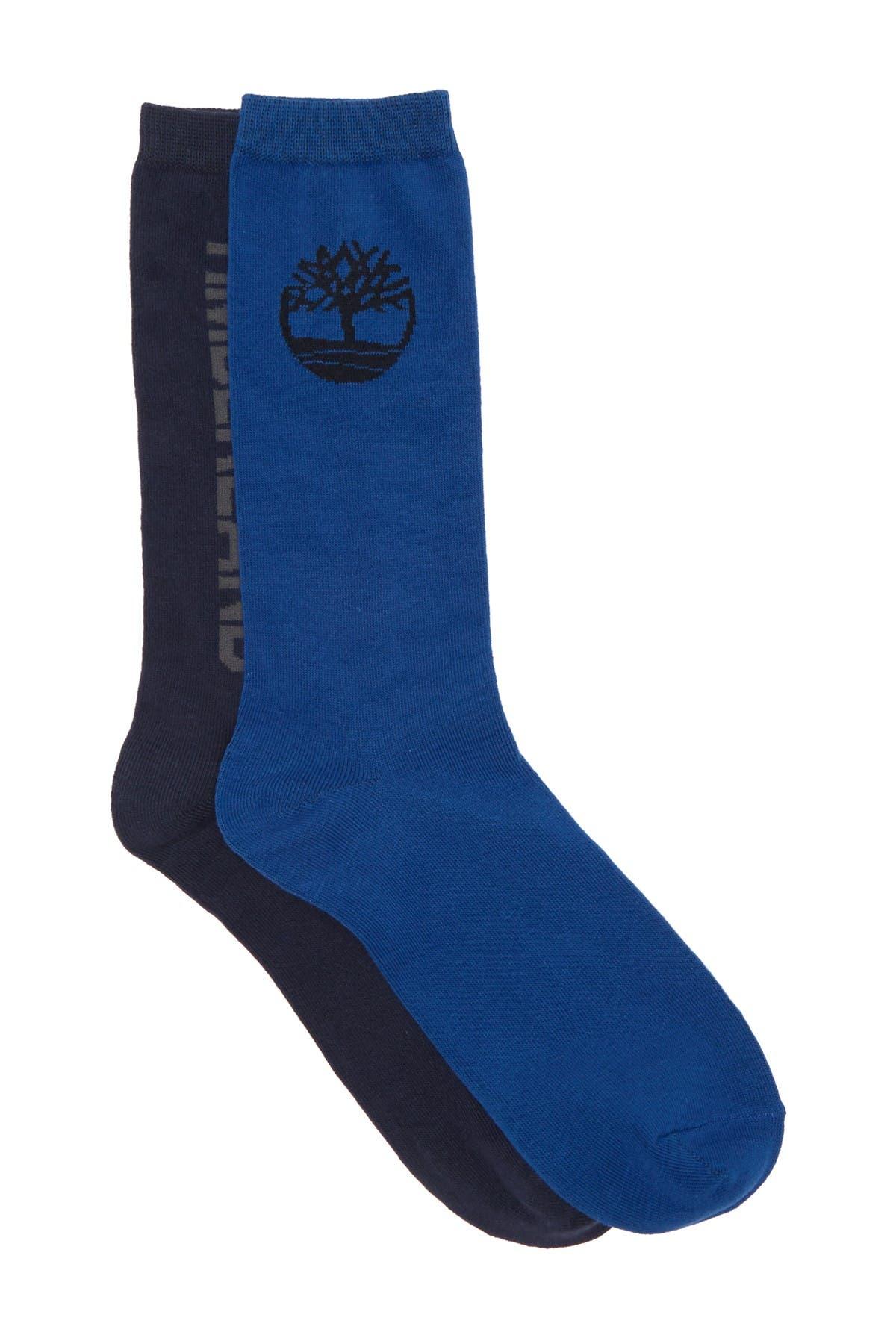 Image of Timberland Logo Fashion Crew Socks - Pack of 2