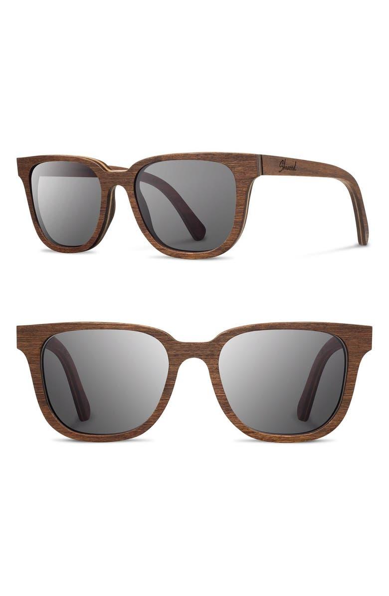 SHWOOD 'Prescott' 52mm Wood Sunglasses, Main, color, 210