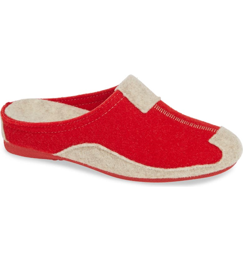 CLOUD Jade Wedge Slipper, Main, color, RED WOOL