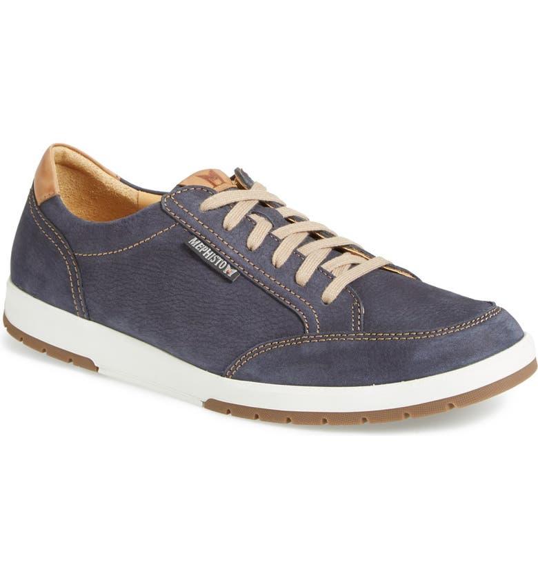 MEPHISTO 'Ludo' Sneaker, Main, color, NAVY SPORTBUCK/ MANO