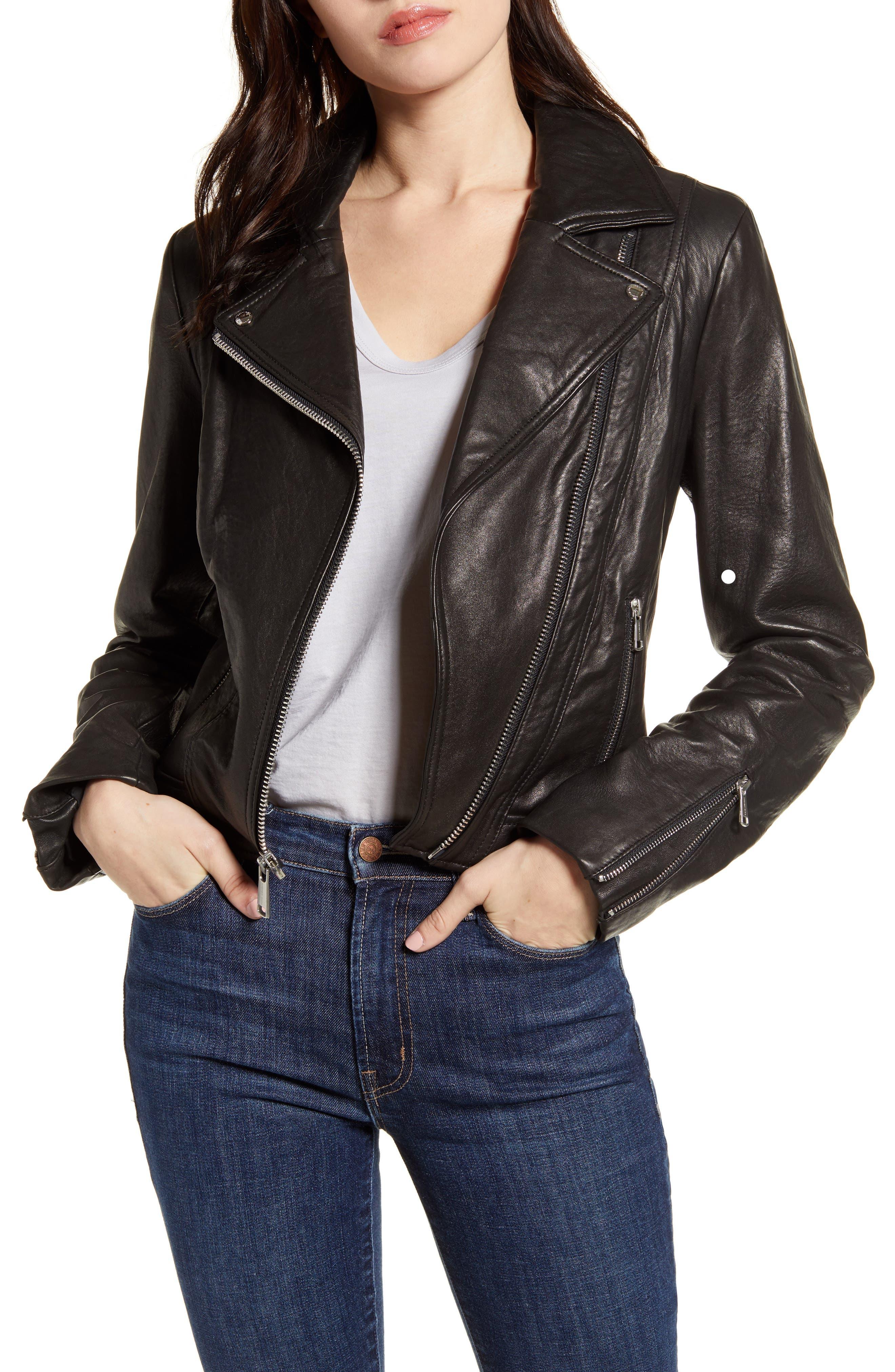 Bubble Leather Moto Jacket
