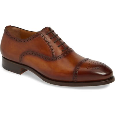 Magnanni Elliott Cap Toe Oxford, Brown