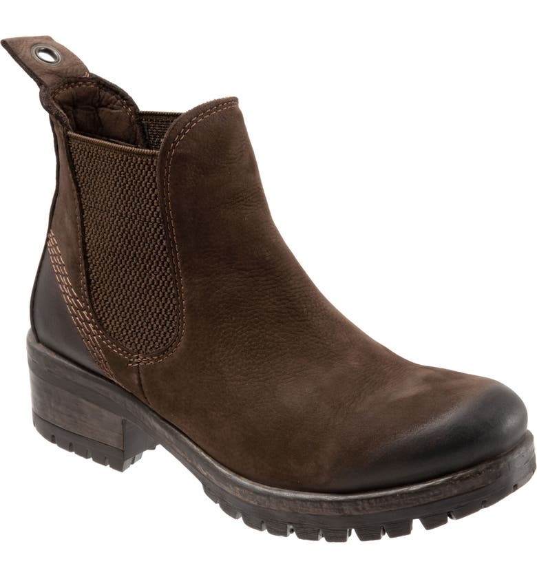 BUENO Florida Chelsea Bootie, Main, color, BROWN NUBUCK/ BROWN