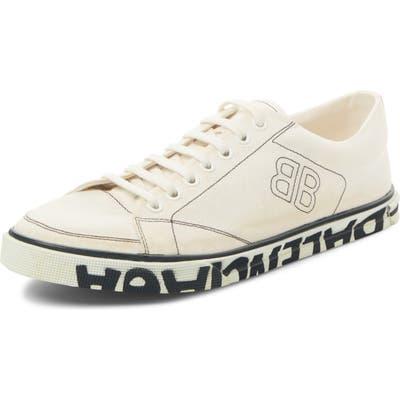 Balenciaga Logo Sole Sneaker, White