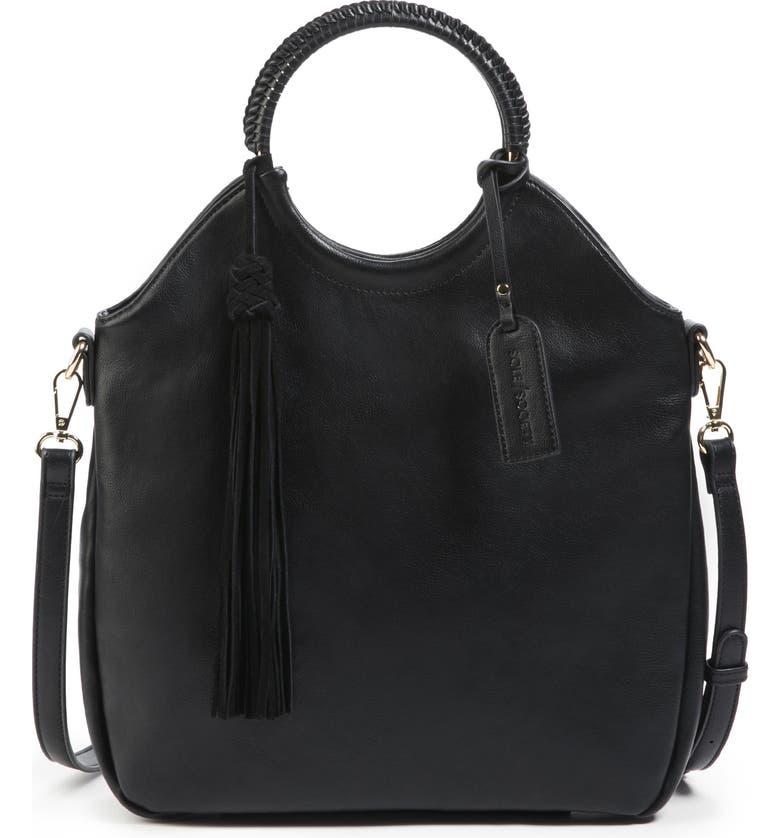 SOLE SOCIETY Faux Leather Bracelet Bag, Main, color, 001